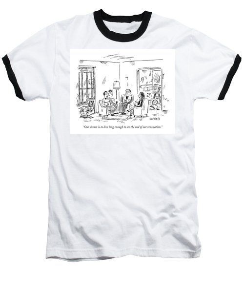 Two Couples Sitting In The Middle Of A House Baseball T-Shirt