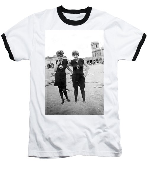 Two Girls At Venice Beach Baseball T-Shirt