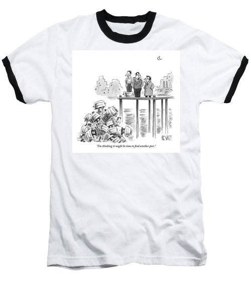 Two Mafiosos Stand On The Edge Of A Pier Baseball T-Shirt