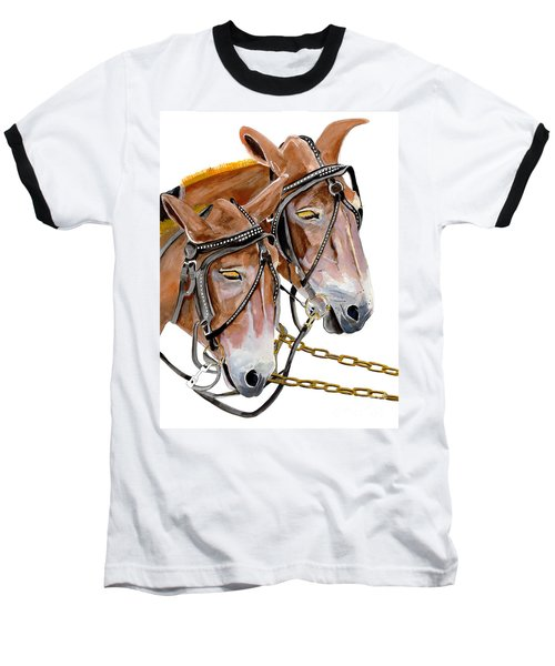 Two Mules - Enhanced Color - Farmer's Friend Baseball T-Shirt