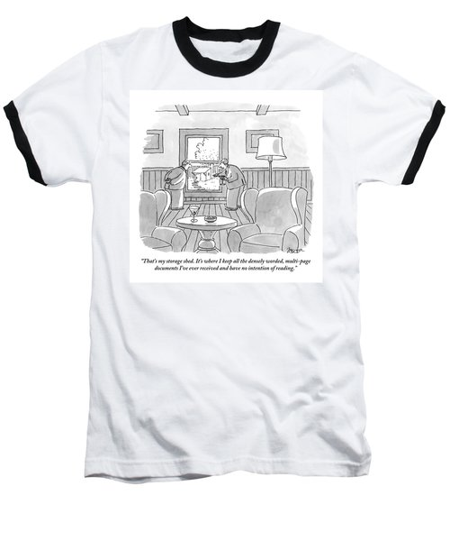 Two Old Men Drinking Martinis Are Looking Baseball T-Shirt