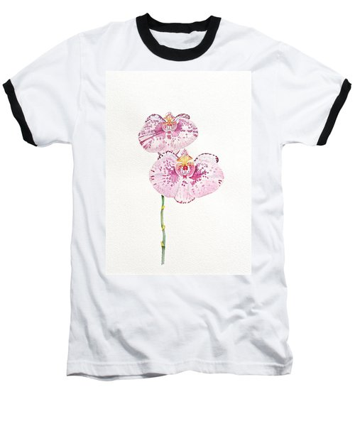 Baseball T-Shirt featuring the painting Two Orchids by Michele Myers