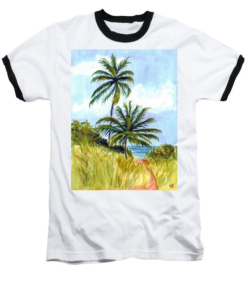 Two Palms Baseball T-Shirt by Clara Sue Beym