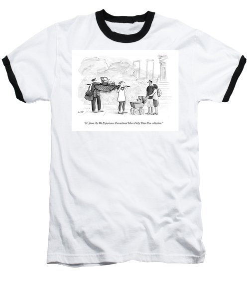 Two Parents Carrying Their Baby On A King's Baseball T-Shirt
