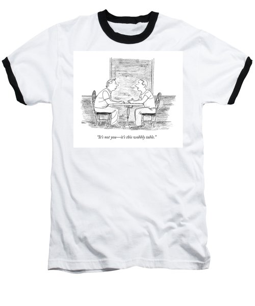 Two People Sit At A Table Baseball T-Shirt