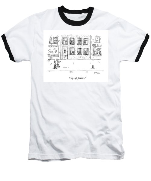 Two People Walk Past A Prison Which Sits Baseball T-Shirt