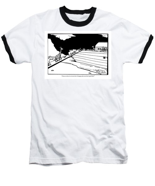 Two People Watch From An Ark As Animals Board Baseball T-Shirt
