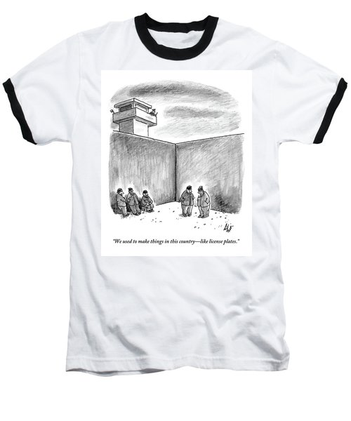 Two Prisoners Talk In The A Prison Yard Baseball T-Shirt