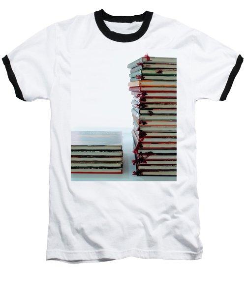 Two Stacks Of Books Baseball T-Shirt