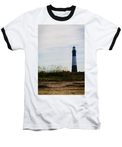 Tybee Island Lighthouse Baseball T-Shirt by Jessica Brawley