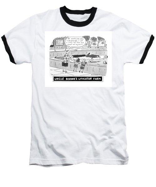Uncle Bernie's Litigator Farm Be Careful Baseball T-Shirt