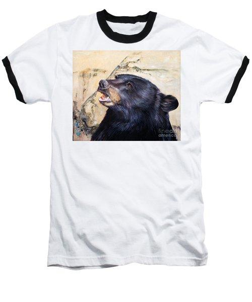 Under The All Sky Baseball T-Shirt by J W Baker