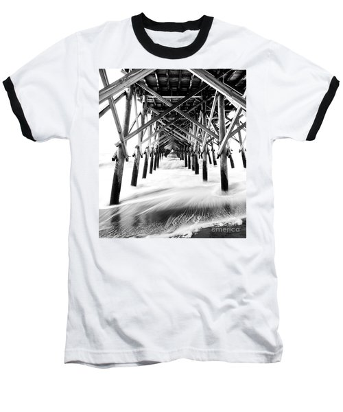 Under The Pier Folly Beach Baseball T-Shirt