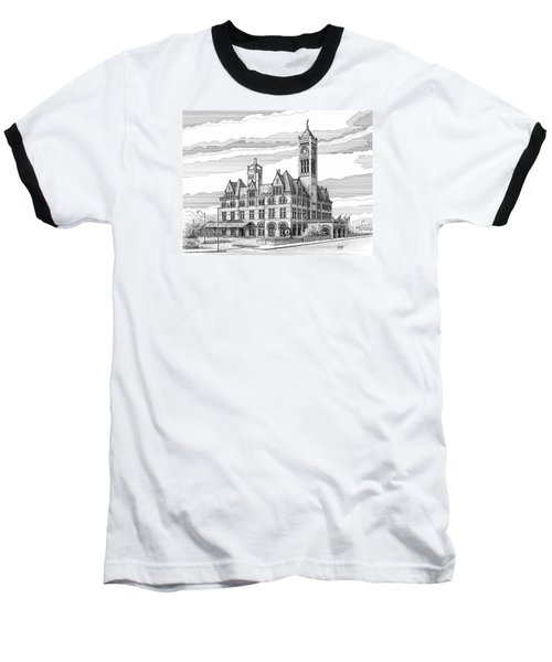 Union Station In Nashville Tn Baseball T-Shirt by Janet King