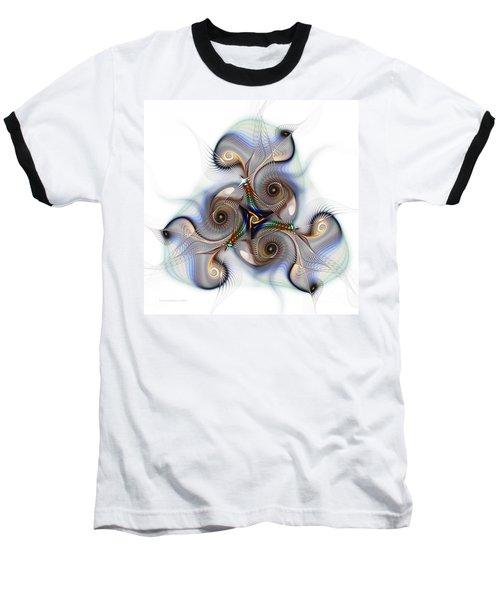 Unison Fractal Art Baseball T-Shirt