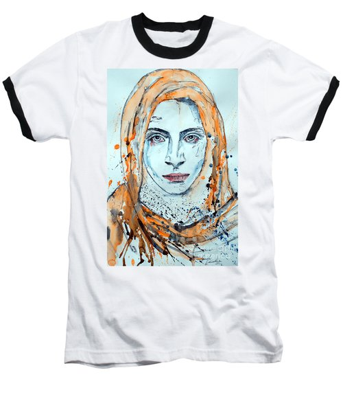 Baseball T-Shirt featuring the painting Untitled 10 by Ismeta Gruenwald