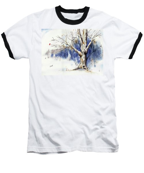 Untitled Winter Tree Baseball T-Shirt