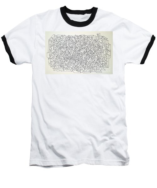 Baseball T-Shirt featuring the drawing Urban Planning by Nancy Kane Chapman