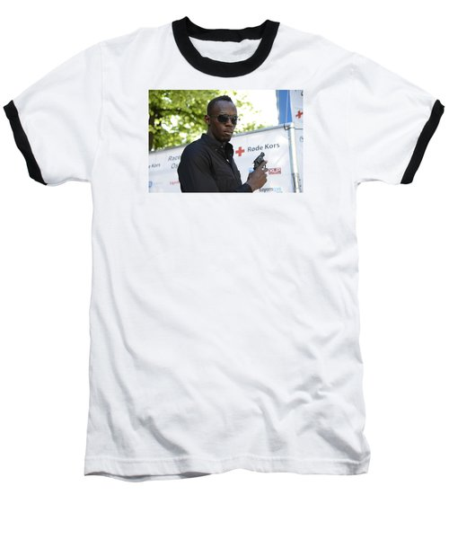 Baseball T-Shirt featuring the photograph Usain Bolt - The Legend 4 by Teo SITCHET-KANDA