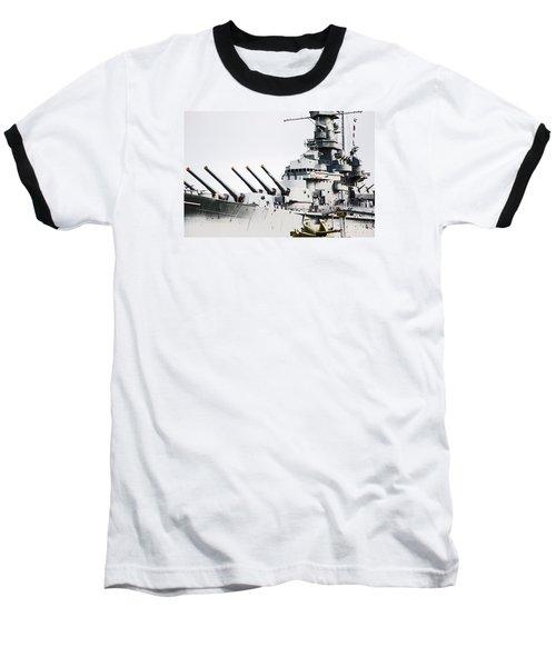 Baseball T-Shirt featuring the photograph Uss Alabama by Susan  McMenamin
