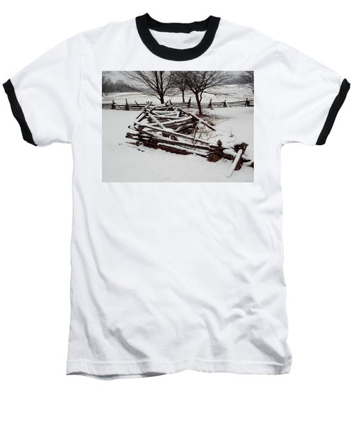 Baseball T-Shirt featuring the photograph Valley Forge Snow by Michael Porchik