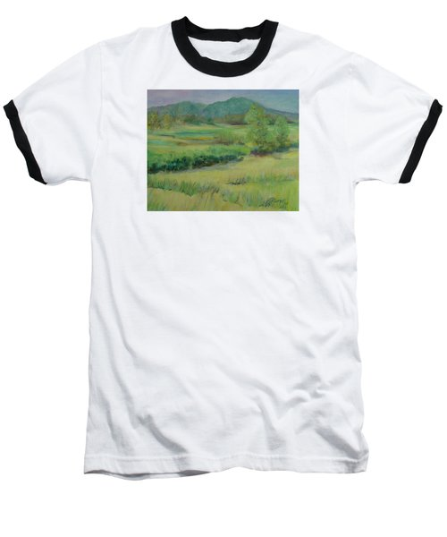 Valley Ranch Rural Western Landscape Painting Oregon Art  Baseball T-Shirt
