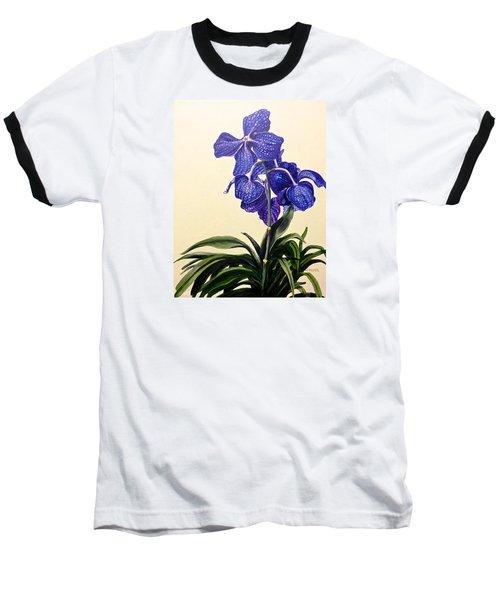 Vanda Sausai Blue Orchid Baseball T-Shirt