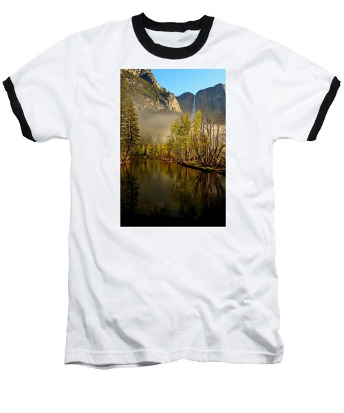 Baseball T-Shirt featuring the photograph Vanishing Mist by Duncan Selby