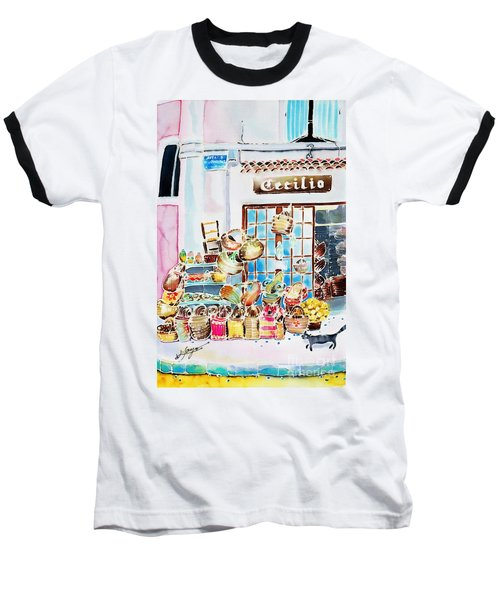 Baseball T-Shirt featuring the painting Vannerie by Hisayo Ohta