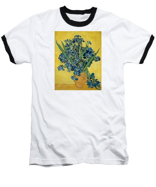 Vase With Irises Baseball T-Shirt by Vincent Van Gogh