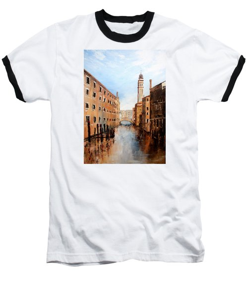 Baseball T-Shirt featuring the painting Venice Italy by Jean Walker
