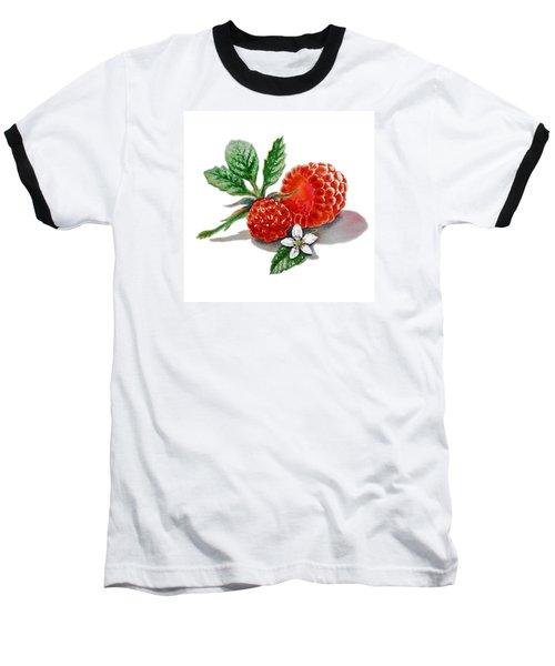 Artz Vitamins A Very Happy Raspberry Baseball T-Shirt by Irina Sztukowski