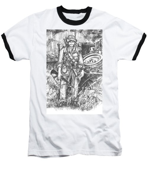 Vietnam Soldier Baseball T-Shirt