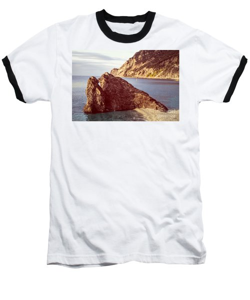View From Beach Of Monterosso Baseball T-Shirt