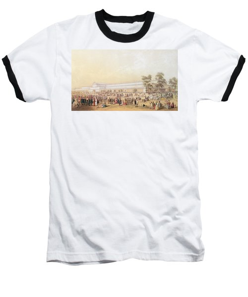 View Of The Crystal Palace Baseball T-Shirt by George Baxter
