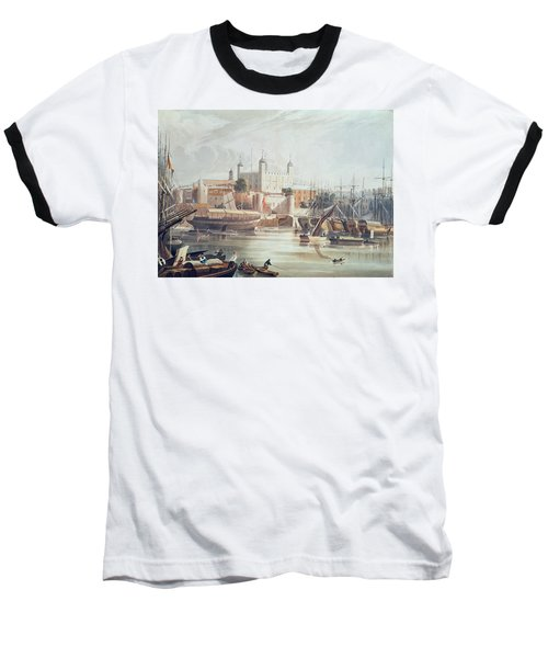 View Of The Tower Of London Baseball T-Shirt by John Gendall