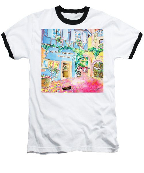 Baseball T-Shirt featuring the painting Vin Nouveau by Hisayo Ohta