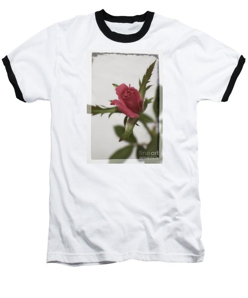 Baseball T-Shirt featuring the photograph Vintage Antique Rose by Ella Kaye Dickey