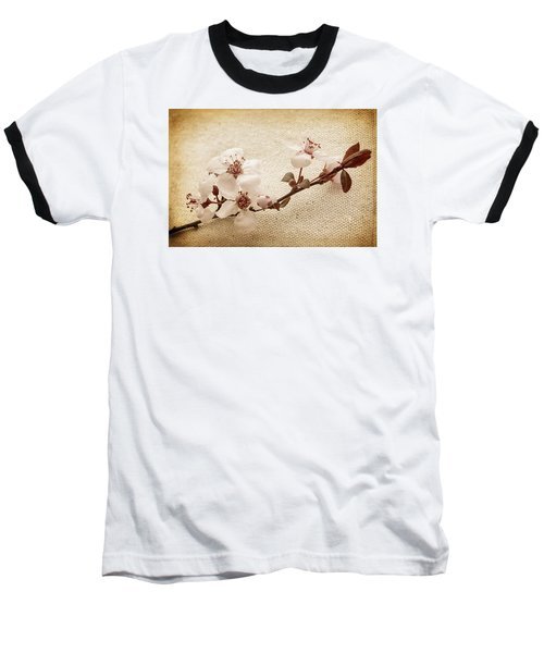 Vintage Blossoms Baseball T-Shirt