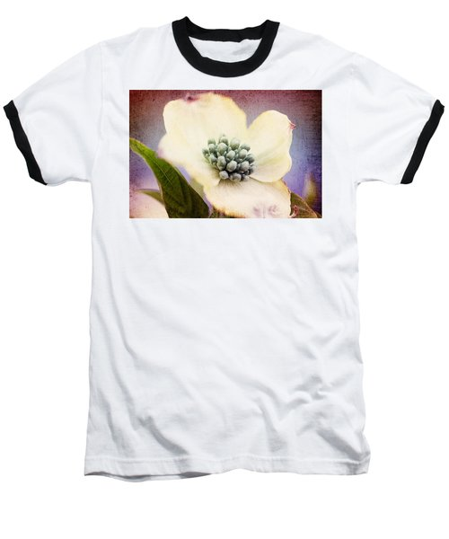 Baseball T-Shirt featuring the photograph Vintage Dogwood Blossom by Trina  Ansel