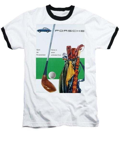 Vintage German Porsche Advert Baseball T-Shirt