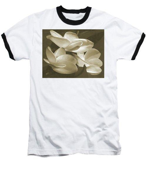 Vintage Plumeria Trio Baseball T-Shirt