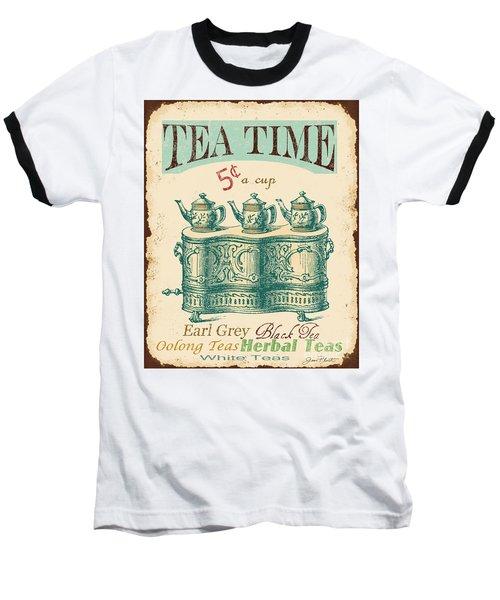 Vintage Tea Time Sign Baseball T-Shirt