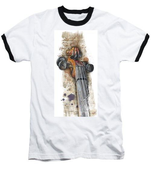 Violin 01 Elena Yakubovich Baseball T-Shirt