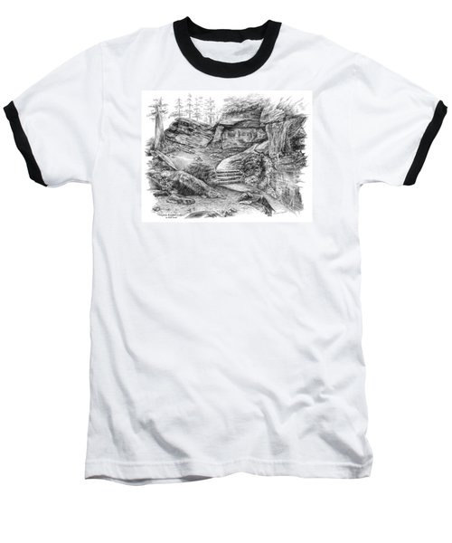 Virginia Kendall Ledges - Cuyahoga Valley National Park Baseball T-Shirt by Kelli Swan