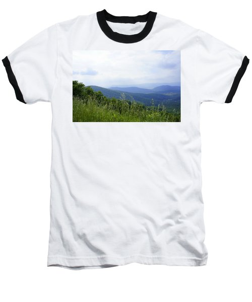 Baseball T-Shirt featuring the photograph Virginia Mountains by Laurie Perry