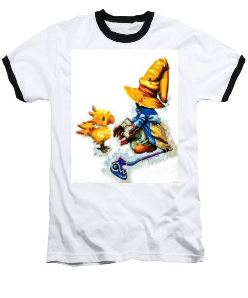 Vivi And The Chocobo Baseball T-Shirt by Joe Misrasi
