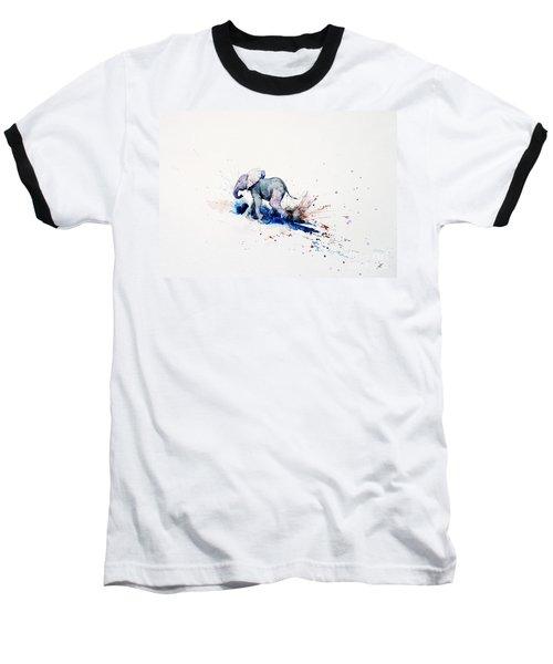 Wait For Me Baseball T-Shirt by Zaira Dzhaubaeva