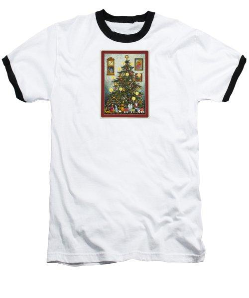 Waiting For Christmas Morning Baseball T-Shirt