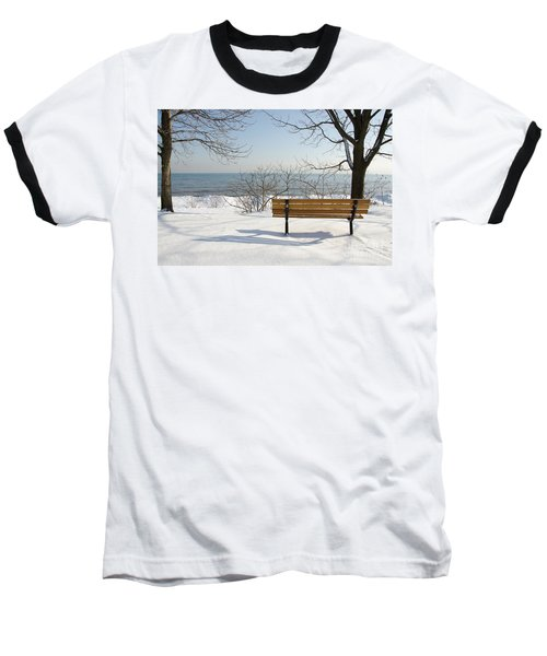 Waiting For Spring Baseball T-Shirt by Laurel Best